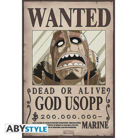 Poster - One Piece - Wanted Usopp New - 52 x 35 cm - ABYstyle