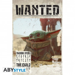 Poster - Star Wars - Bébé Yoda Wanted - 91.5 x 61 cm - ABYstyle