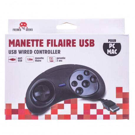 Accessoire - Manette USB Megadrive 6 boutons - Freaks and Geeks