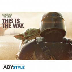 Poster - Star Wars - Mando & l'Enfant - 91.5 x 61 cm - ABYstyle