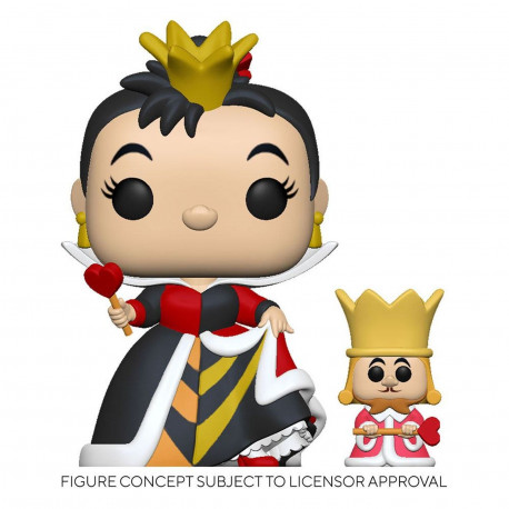 Figurine - Pop! Disney - Alice au pays des Merveilles - Queen with King - Funko