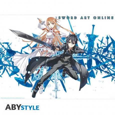 Poster - Sword Art Online - Asuna & Kirito - 52 x 38 cm - ABYstyle