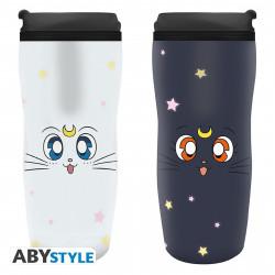 Mug de voyage - Sailor Moon - Luna & Artemis - 35 cl - ABYstyle