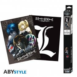 Set de 2 Posters - Death Note - L & Groupe - 52 x 38 cm - ABYstyle