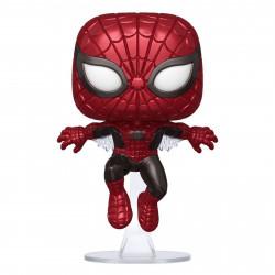 Figurine - Pop! Marvel - 80th Spider-Man (First Appearance) (Metallic) - N° 593 - Funko