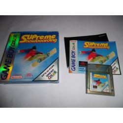 Jeu Game Boy Color - Supreme Snowboarding