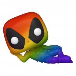 Figurine - Pop! Marvel - Deadpool - Lazy Deadpool Rainbow - N° 320 - Funko