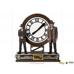 Figurine - Retour vers le Futur - Deluxe Art Scale 1/10 Marty and Doc at the Clock - Iron Studios