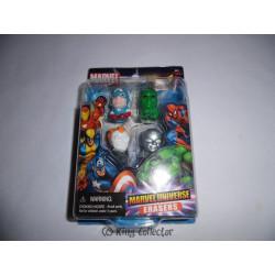 Pack de 4 Gommes - Marvel - Set A - Marvel Universe Erasers - Monogram