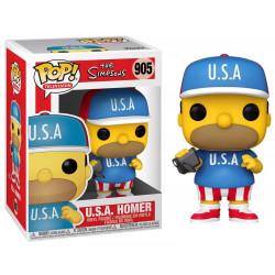 Figurine - Pop! TV - The Simpsons - U.S.A. Homer - N° 905 - Funko