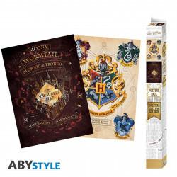 Set de 2 Posters - Harry Potter - Blason & Maraudeurs - 52 x 38 cm - ABYstyle