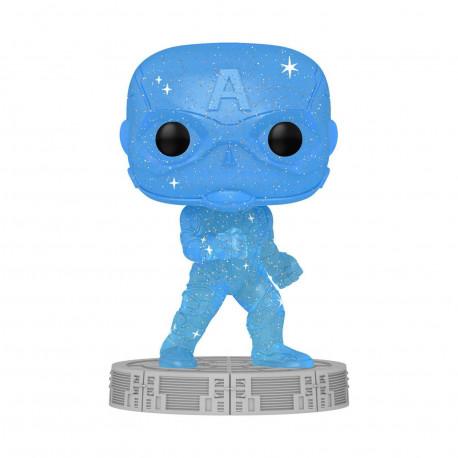 Figurine - Pop! Art Series - Marvel The Infinity Saga - Captain America - N° 46 - Funko