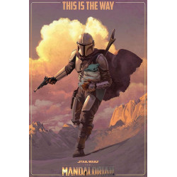 Poster - Star Wars - The Mandalorian - On the Run - 61 x 91 cm - Pyramid International