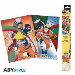 Set de 2 Posters - Naruto Shippuden - Equipe 7 - 52 x 38 cm - ABYstyle