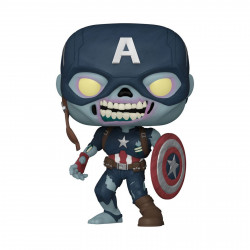 Figurine - Pop! Marvel - What If...? - Zombie Captain America - N° 941 - Funko