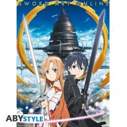 Poster - Sword Art Online - Asuna & Kirito Aincrad - 52 x 38 cm - ABYstyle