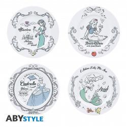 Set de 4 Assiettes - Disney - Disney Princesses - ABYstyle