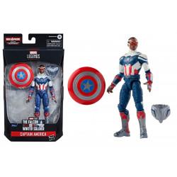 Figurine - Marvel Legends - The Falcon and the Winter Soldier - Captain America - Hasbro