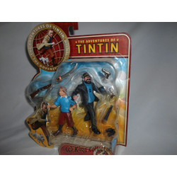 Figurine - Tintin et le Secret de la Licorne - Tintin et Haddock - Plastoy