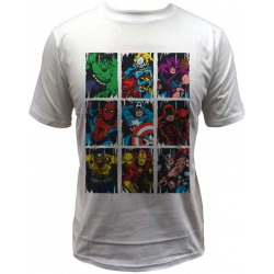 T-Shirt - Marvel - Squares - Indiego