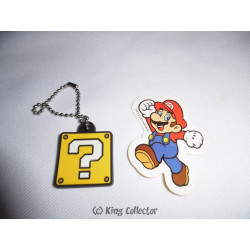 Porte-Clé - Nintendo - Super Mario Bros. - Mystery Cube + Sticker - TOMY