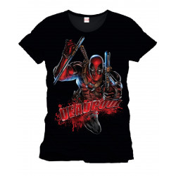 T-Shirt - Marvel - Deadpool Bloody Attack - Cotton Division