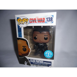 Figurine - Pop! Marvel - Captain America Civil War - Black Panther Unmasked - Vinyl - Funko