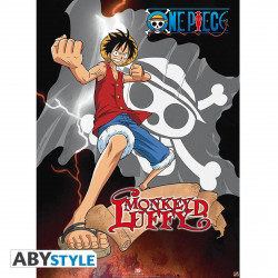 Poster - One Piece - Luffy Lightning - 52 x 38 cm - ABYstyle