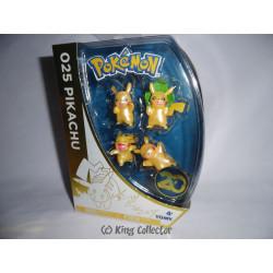 Pack de 4 figurines - Pokémon - Pikachu - 5 cm - Tomy