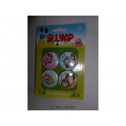 Badge - Dr Slump Arale - Set C - 4 pin's / badges - SD Toys