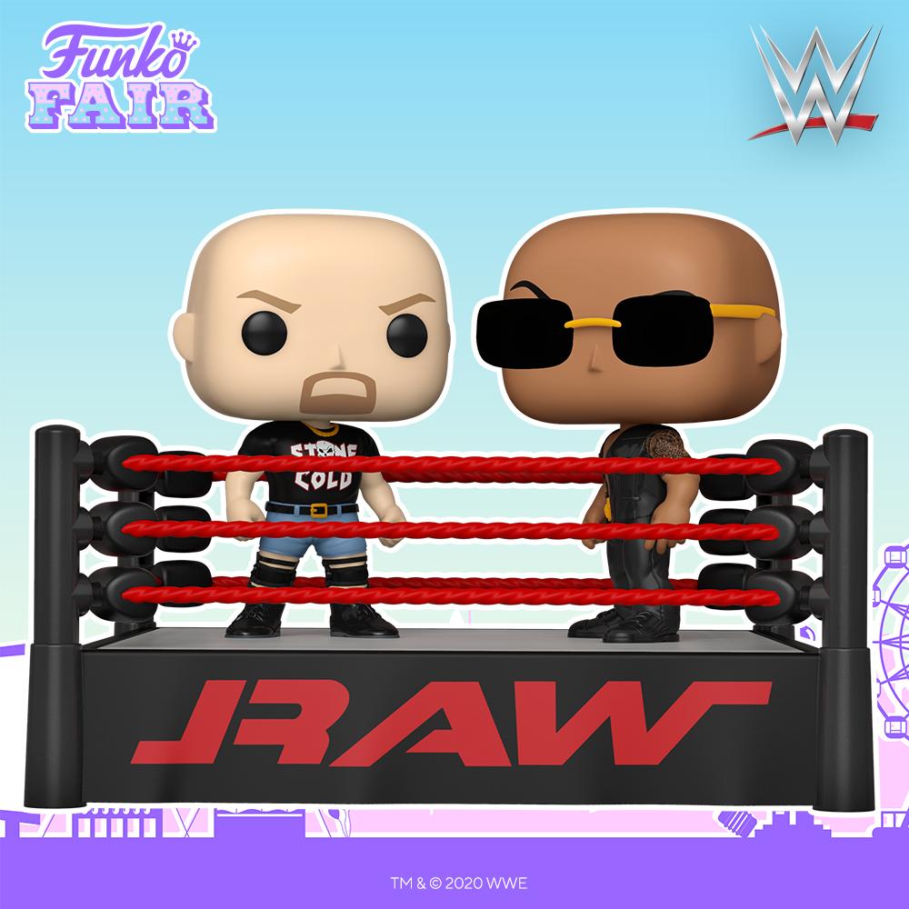 Funko Fair 2021 - POP WWE Steve Austin vs The Rock